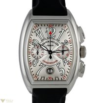 Franck Muller Conquistador Chronograph 18K White Gold Rubber...