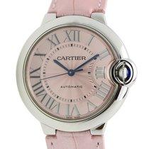 Cartier Ballon Bleu Stainless Steel Pink Automatic WSBB0007