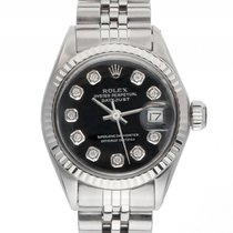 Rolex Oyster Perpetual Datejust Lady Stahl Weißgold Diamond...