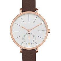 Skagen Womens Hagen Watch - White Dial - Brown Leather Strap -...
