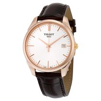 Tissot T-Gold Vintage Silver Dial Leather Strap Mens Watch...