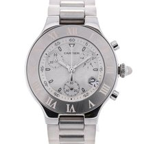 Cartier Must 21 Chronograph Guilloche Dial