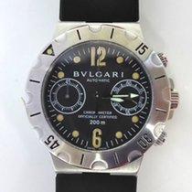 Bulgari SD40S Diagono Chronograph in Steel - on Rubber Strap...