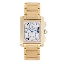 Cartier Tank Francaise Chronograph Men's 18k Gold Watch...