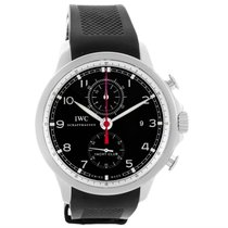IWC Portuguese Yacht Club Chronograph Ruber Strap Mens Watch...