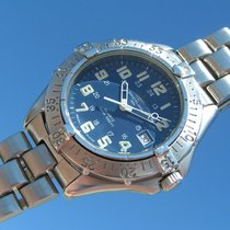 Breitling Colt Blue Dial A 57035 Steel One Year Warrenty...
