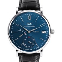 IWC Schaffhausen IW510106 Portofino Hand-Wound Eight Days Blue...