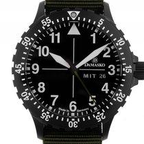 Damasko DH1 Black Stahl Automatik Armband Textil 40mm Box&...