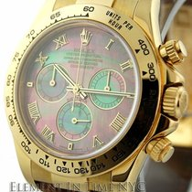 Rolex Daytona 18k Yellow Gold Tahitian Mother Of Pearl Dial...