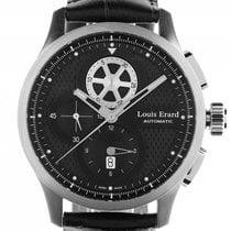 Louis Erard 1931 Stahl Automatik Chronograph Armband Leder 44mm