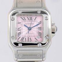 Cartier Santos Stahl Ladies rose lachs dial Klassiker Top...