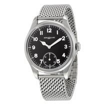 Montblanc 1858 Small Seconds Black Dial Stainless Steel Men's