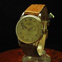 Chronographe Suisse Cie Coresa 18kt Gold Handaufzug Chronograp...