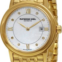 Raymond Weil Tradition Mother Of Pearl Dial Gold Pvd Stainless...