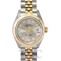 Rolex Lady-Datejust 28 Silver Steel/18k Yellow Gold G 28mm -...