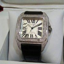 Cartier Santos 100 L 3rd party Diamonds Ref: W20073X8
