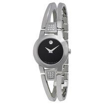 Movado Amorosa Black Dial adies Watch 0604982
