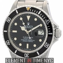 Rolex Submariner Stainless Steel Black Crackled 'Spider&#3...