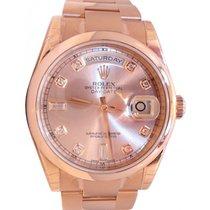 Rolex Day-Date 36 118205-PCHDO Pink Champagne Diamond Rose...