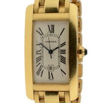 Cartier Tank Americaine Automatic Solid 18k Yellow Gold W/ Box...