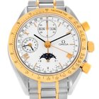 Omega Speedmaster Steel Gold Chronograph Moonphase Watch...