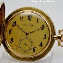 IWC Savonette Taschenuhr, 14 Karat Gold, um 1930