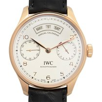 IWC Portuguese 18k Rose Gold Silvery White Automatic Iw503504