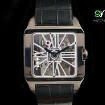 Cartier W2020033 Santos-dumont Skeleton Dial 18 Kt White Gold