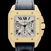 Cartier Santos 100 XL Chrono Ref.: w20096y1 - Gelbgold -...