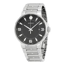 Movado SE Pilot Black Dial Stainless Steel Mens Watch 0606761