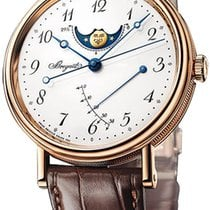Breguet Classique Moonphases White Dial 18K Rose Gold Automati...