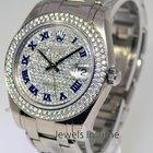 Rolex Masterpiece 34mm 18k White Gold & Diamond Watch...