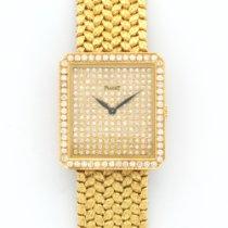 Piaget Vintage Yellow Gold Diamond Bezel Dial Bracelet Watch
