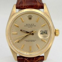 Rolex Mens Rolex 14k Yellow Gold Oyster Perpetual Date...