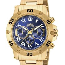Invicta Specialty Mens Chronograph - Blue Dial - Gold-Tone...