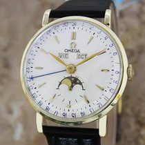 Omega Ref 2473 1950s Moonphase Triple Calendar 14k Solid Gold...