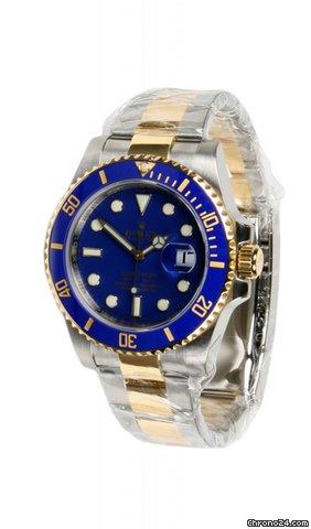 Rolex SUBMARINER  TWO TONE CERAMIC-BLUE DIAL -V SERIAL