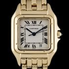 Cartier 18k Yellow Gold Cream Roman Dial Panthere Gents...