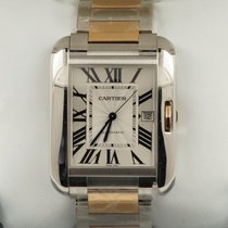 Cartier Tank Anglaise XL Rose Gold Steel Roman Dial 48 mm (2016)