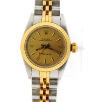 Rolex Oyster Perpetual Tiffany & Co Dial 18K/Stainless Steel