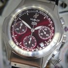 Hublot MDM Chronograph Stainless Steel Burgundy Strap 40mm...