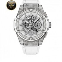 Hublot - King Power Unico bianco di titanio Pavé