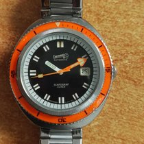 Eberhard & Co. scafograf 500 super rare orange bezel mint