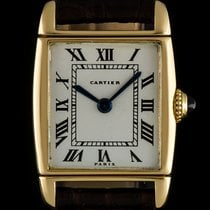 Cartier 18k Yellow Gold Very Rare Reverso Ladies Wristwatch