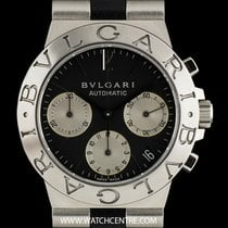 Bulgari Stainless Steel Black Dial Diagono Chronograph Gents...