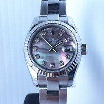 Rolex Lady Datejust Dia Markers Tahitian MOP D Serial WG/SS...