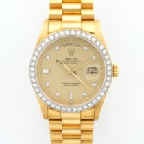 Rolex Yellow Gold Day-Date Diamond Ref. 18048