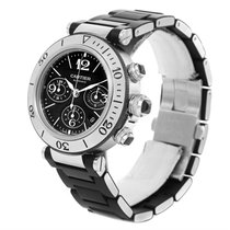 Cartier Pasha Seatimer Chronograph Mens Watch W31088u2 Box Papers