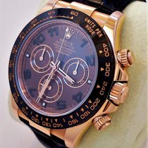 Rolex Daytona 116515 Ln 18k Rose Gold Cosmograph Chocolate On...