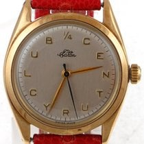 Rolex Vintage 14kt Yellow Gold Rolex Oyster With Rare Eatons Dial